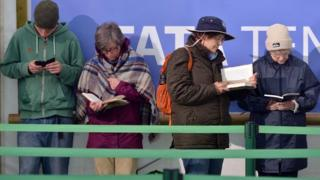 People read at the Hay Festival