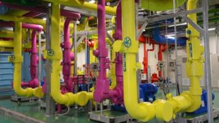 Pipes in Google data centre