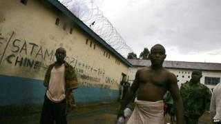 Inmates in Bunia Prison in DR Congo in 2006