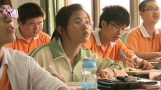 Chinese students studying for the Gaokao exam in 2013