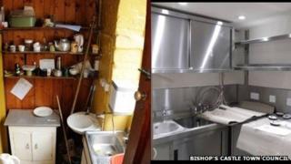 Bishop's Castle Town Hall kitchen
