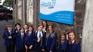 Joss Glossop and Route 39 pupils