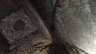 A shaft that was found in the new cave