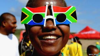 A South African football fan - May 2010