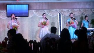 Singers perform at the Pyongyang restaurant in Phnom Penh