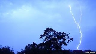Storm over Denbigh, North Wales on Saturday morning