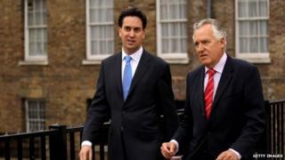 Ed Miliband and Peter Hain