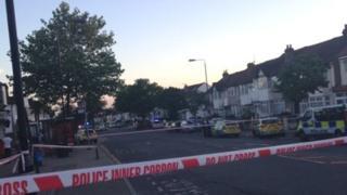 Scene of stabbing in Streatham Vale