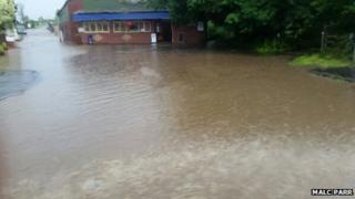 Flooding at Blyton Ice Cream Parlour