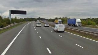 M1 near junction 22