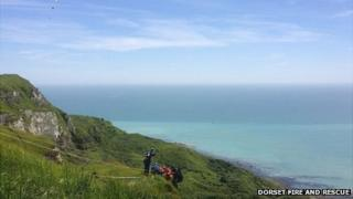Weymouth paraglider rescue