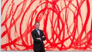 "Sir Nicholas Serota in front of ""Untitled (Bacchus) 2006-2008"