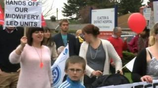 Clacton maternity unit protest