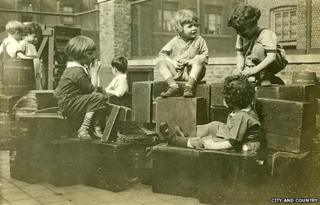 Archive photo of children playing in the yard