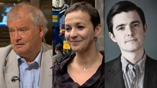 Prof Tom Devine, Kath Mainland and Fraser Docherty