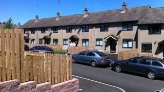 Scene of murder in Ballymena
