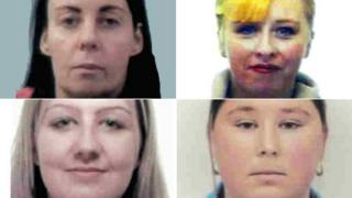 Angela Callaghan, Nicola Brown, Maria McDermott and Lise Keightley