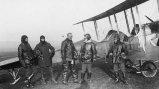 Members of the Royal Flying Corps