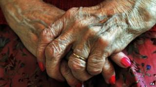 Elderly person's hands