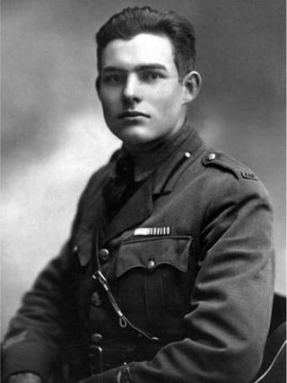 Ernest Hemingway as an American Red Cross volunteer during World War I