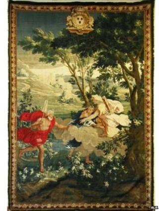 Detail from the 1720 Château de Versainville tapestry