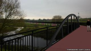 Baswich bridge (artists impression)