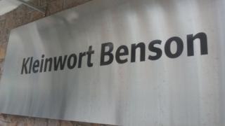 Kleinwort Benson sign