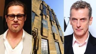 Brad Pitt, Glasgow School of Art and Peter Capaldi