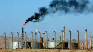 A file picture of the Baiji oil refinery