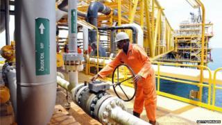Drilling platform in the Niger Delta
