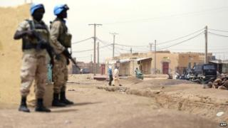 UN peacekeepers in Kidal, Mali - 2013
