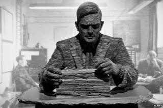 Statue of Alan Turing in Bletchley Park