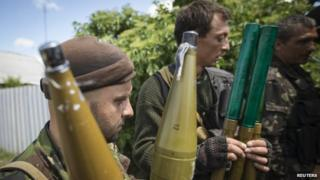 Pro-Russian separatists with rocket-propelled grenades in eastern Ukraine. Photo: 19 June 2014