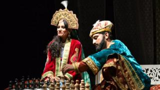 A scene from Urdu play Shah Jahan-o-Mumtaz