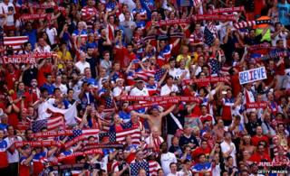 US fans in Manaus at the Portugal game