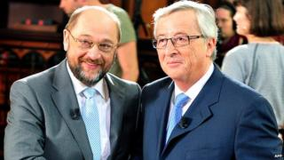 Martin Schulz (left) and Jean-Claude Juncker