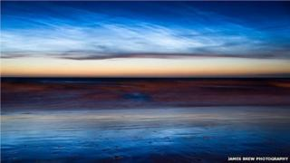 Noctilucent clouds courtesy of James Brew