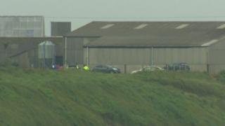 The scene of the fatal crash, involving three vehicles, near Ballyhornan village