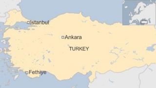 Map of Fethiye in Turkey