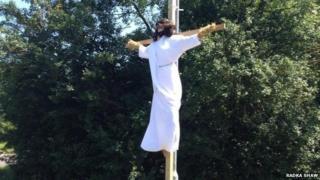 """Jesus"" scarecrow"