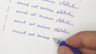 Writing lines of I must not misuse statistics