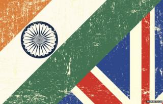 An Indian flag and Union Jack together