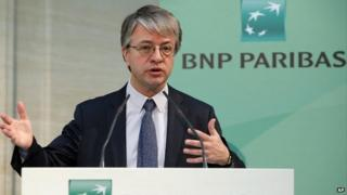BNP chief executive Jean-Laurent Bonnafe