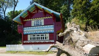 The restored Swiss Cottage