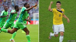 Nigeria and Colombia in the World Cup 2014