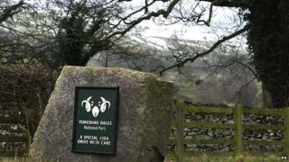 Yorkshire Dales National Park sign