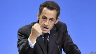 Nicolas Sarkozy (file pic 2008)
