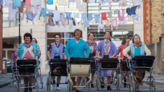 Brendan O'Carroll (centre) in Mrs Brown's Boys D'Movie