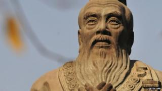 Statue of Confucius in Beijing