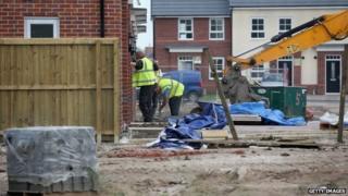 Work on a new housing development